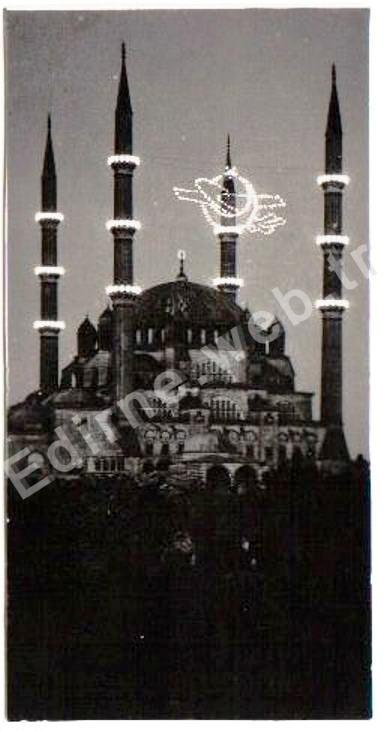 Mahya, Edirne Selimiye Camii