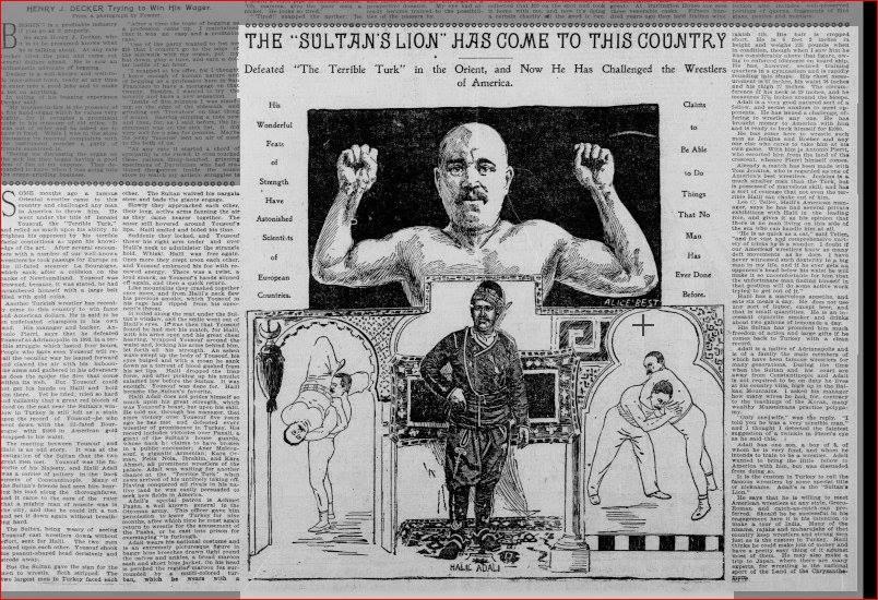"""San Francisco Call gazetesi : """"Sultan'ın Aslan'ı geldi."""""""